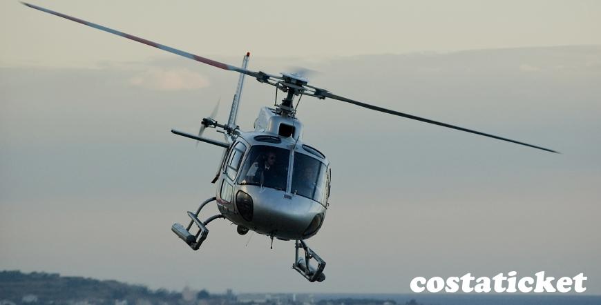 Helicopter Flying Over Benidorm