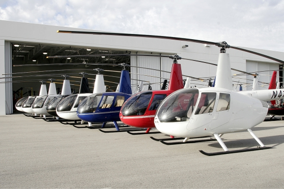 Fleet of Robinson Helicopters