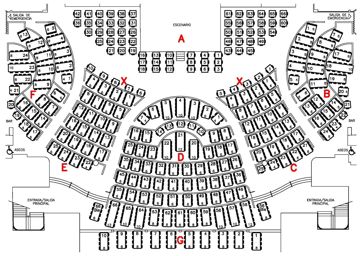 Benidorm Palace Seating Plan