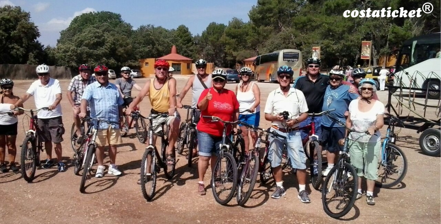 Group of Ladies in Benidorm Downhill Bike Ride