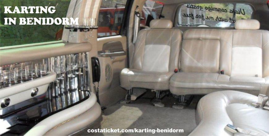 Benidorm Karting Limousine Interior